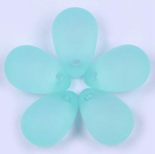 50pcs Frosted Beads Transparent Water drop Jewelry Hair Ornament accessories DIY