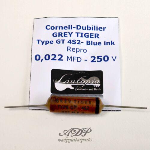 2xCondensateurs 022uf Vintage LP Clone Cornell-Dubilier Grey Tiger Capa 22nF250v