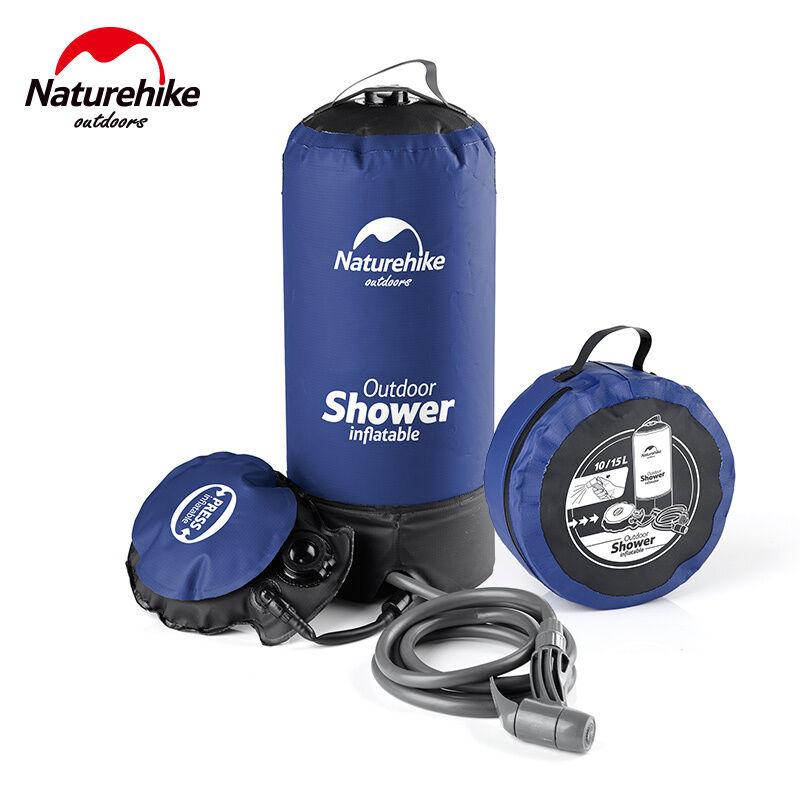 portable Pressure Camp Shower with Foot Pump Pressurized Water sac de plein air Gear
