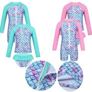 Baby-Kids-Girls-Toddler-Swimwear-Swimsuit-UPF-50-Rash-Guard-Bathing-Surf-Suit