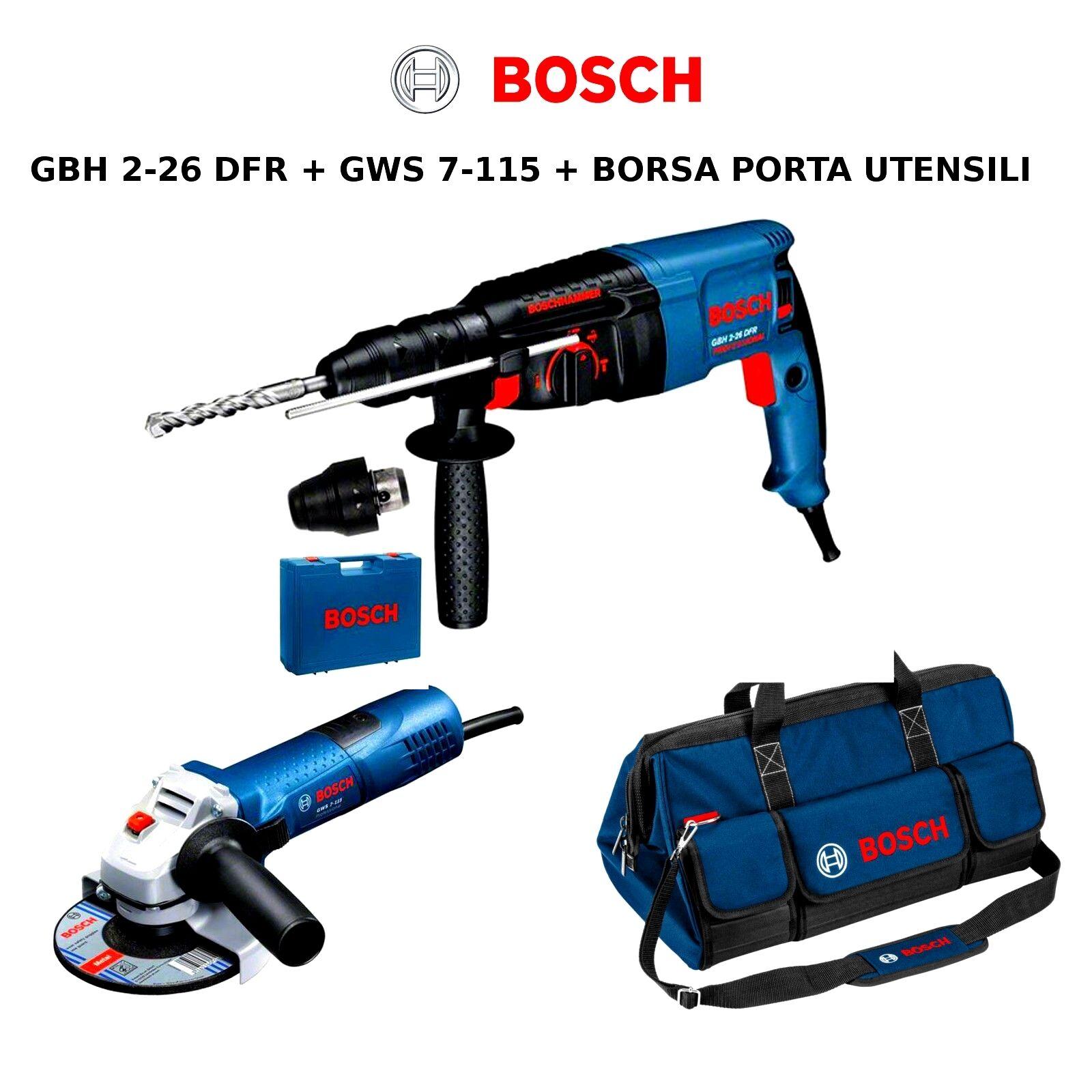 Bohrhammer Hammer Perforator + Winkelschleifer Bosch
