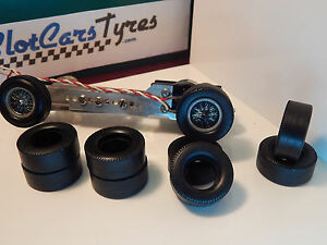 8 urethane rear tyres for K&B 1/24 - US