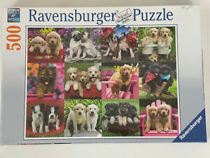NEW Ravensburger Puppy Pals 500 Piece Jigsaw Puzzle Factory Sealed Puppies