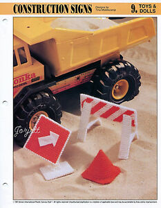 Construction-Signs-Playtime-Cone-amp-More-Annie-039-s-plastic-canvas-patterns