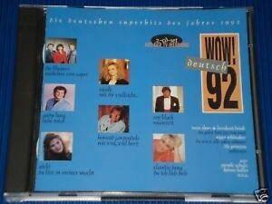 Wow-039-92-Die-deutschen-Hits-EMI-Flippers-Claudia-Jung-Roy-Black-Han-2-CD