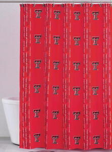 Image Is Loading NEW Texas Tech Red Raiders Fabric Shower Curtain