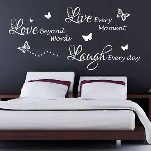 Love Quotes Wall Art Fair Livelaughlove Quote Bedroom Wall Art Sticker Decal Graphic