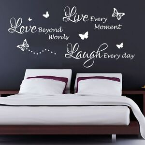 Image Is Loading Live Laugh Love Quote Bedroom Wall Art Sticker