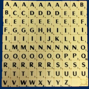 Individual Single Replacement Scrabble Letters Craft Games