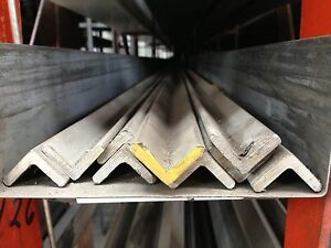"ALLOY 304 STAINLESS STEEL ANGLE 4/"" X 4/"" X .375/"" X 12/"""