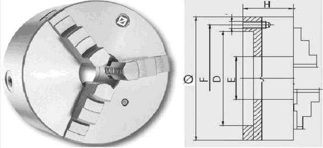 3-Backenfutter ZENTRA Drehfutter 80-100-125-160-250mm   DIN6350