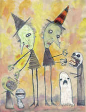 GUS FINK art outsider EMI BOZ folk surreal modern lowbrow NO MESSAGES FROM YOU
