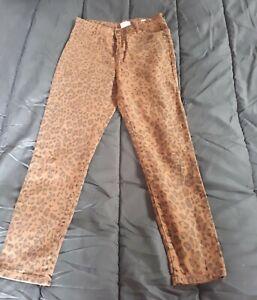 Cotton-On-Leopard-Print-Jeans-size-12