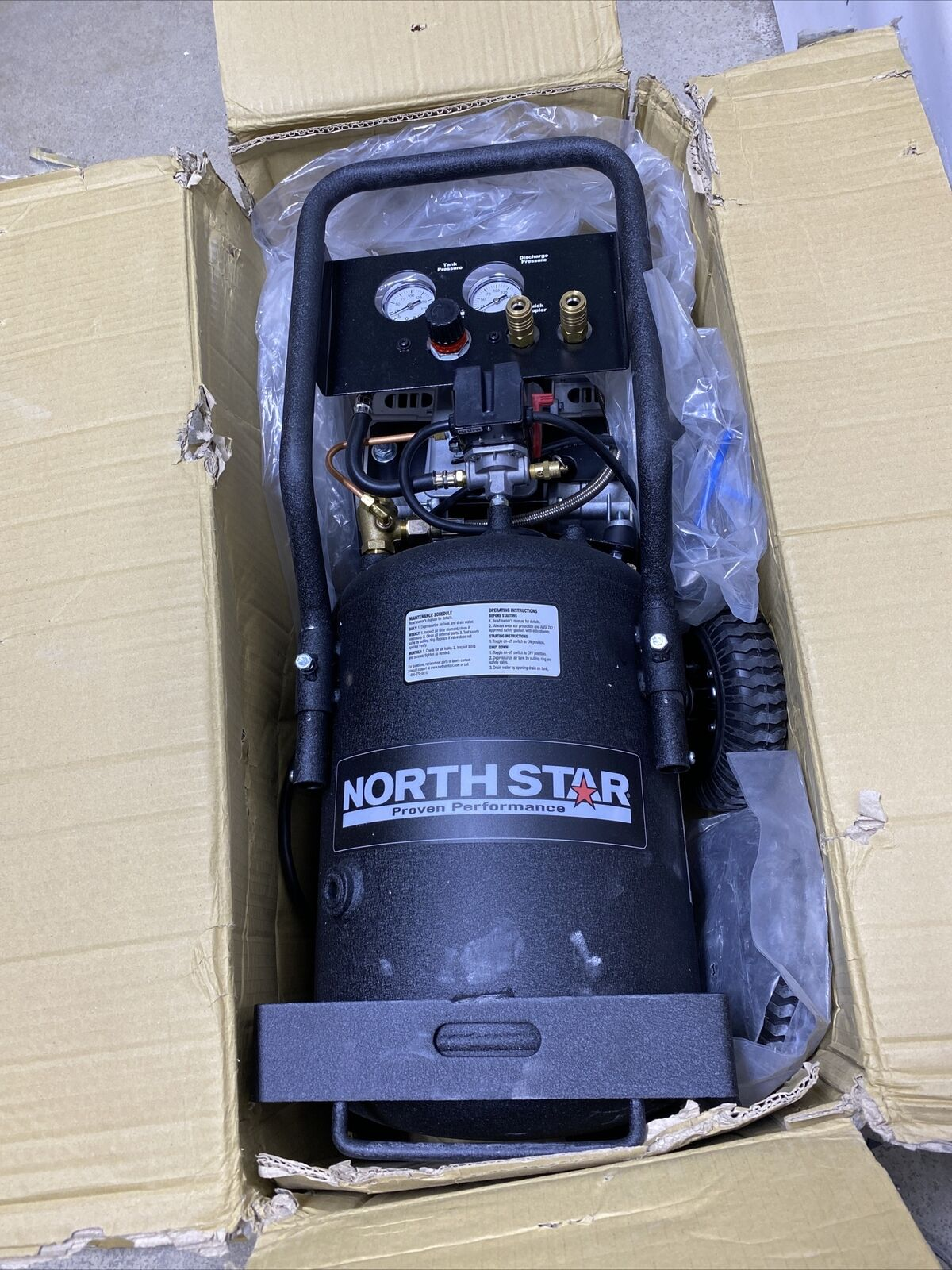 NorthStar Portable Electric Air Compressor 1.5 HP, 8-Gallon Vertical Tank Y-22. Buy it now for 279.99