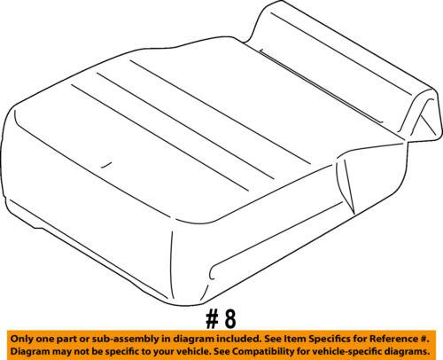 FORD OEM 15-16 F-150 Front Seat Bottom-Foam Cushion Pad Insert FL3Z18632A22A