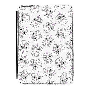 Pugicorn-Pattern-Rainbow-Unicorn-Pug-iPad-Mini-1-2-3-PU-Leather-Flip-Case-Cover