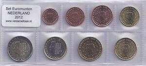 NEDERLAND-UNC-EURO-SET-2012-serie-van-8-munten-1-cent-t-m-2-euro