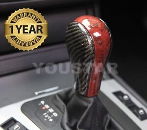 US Seller 3D Genuine Carbon Burl Wood Effect AT Shift  BMW 1 3 6 X Z4 Series
