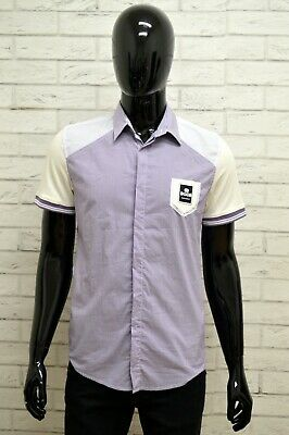 Camicia Dooa Uomo Taglia Size M Maglia Shirt Man Manica Corta Cotone Righe Slim Merci Di Convenienza