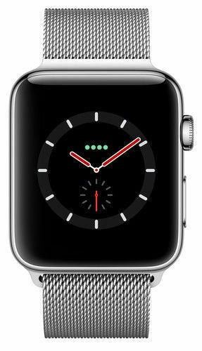 Inbox Mint Apple Watch Series 3 38MM GPS Cellular Stainless Milanese Loop Silver