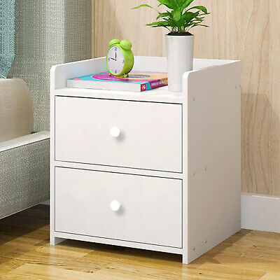 Wooden 2 Drawer Bedside Table Night Stand Bedroom Furniture White 733781217878 Ebay