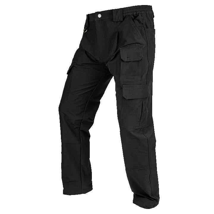 Viper Stretch Pantalones Trousers para Hombre Negro Ligero Tiro Caza de país