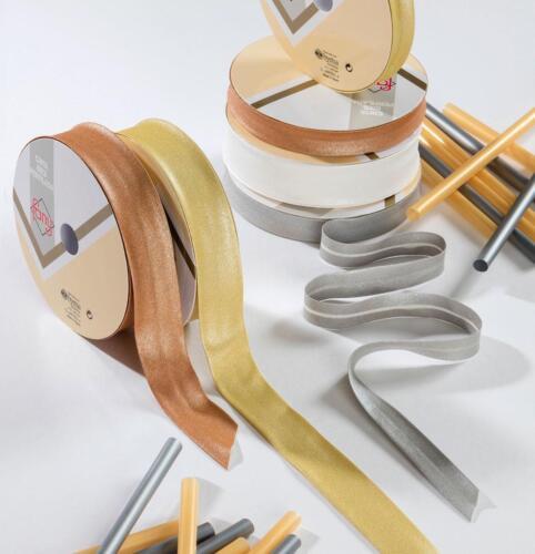 30mm metallica Bias Rilegatura-oro-argento-rame 100/% COTONE-piegata pregiudizi
