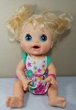 Hasbro Baby Alive Real Surprises Doll Blonde Blue Eyes 2012 English Spanish