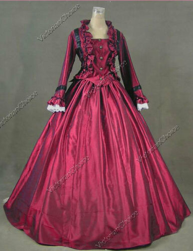 Victorian Costumes: Dresses, Saloon Girls, Southern Belle, Witch    Victorian Dickens Christmas Caroler Dress Theatrical Steampunk Ball Gown 170 $139.00 AT vintagedancer.com