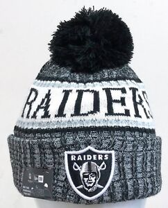737923ed NEW ERA MENS NFL 2018 ON FIELD SPORT KNIT BEANIE OAKLAND RAIDERS | eBay