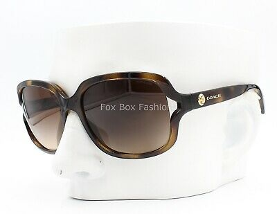 Coach HC 8169 512013 Sunglasses Dark Brown Tortoise Brown Gradient 57mm