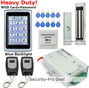 125KHz RFID+Password Door Access Control System+Magnetic Lock+2Remote Controls