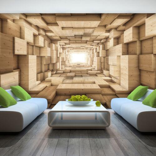 Nappes Papier Peint papiers peints photos papier peint Bois Tunnel corridor 3d Géométrie 14n3247v8
