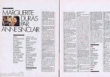 COUPURE DE PRESSE CLIPPING 1986 MARGUERITE DURAS   (4 pages)