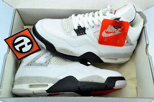 5917d06551b3d7 Nike Air Jordan 4 Retro White Cement Black IV s Size 8.5 1999 ...