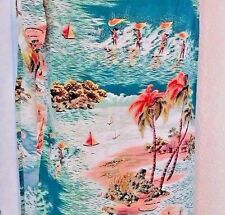 Handmade Skirt Size Small to Large Sarong Tie Hawaiian Tropical  Surf Cover-Up