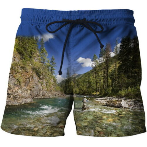 Men Summer Beach Casual Athletic Gym Sports Swimwear Short Quick Dry Swim Pants
