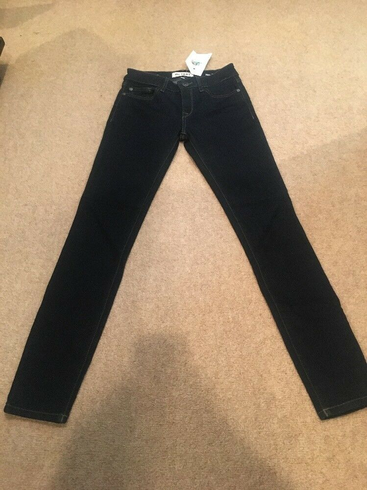 DL 1961 Dark Denim Skinny Jeans No.3 Instasculpt Sz 24 New