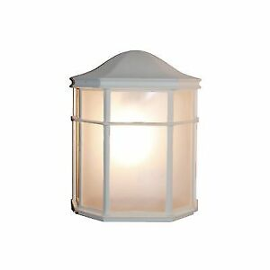 Trans Global Lighting Pl 4484 Wh Energy Efficient 1 Light Outdoor Wall Pocket White