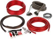 Belva BAK44 4 Gauge Amplifier Wiring Kit W/ 4-channel RCA Cable