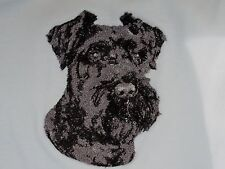 Embroidered Ladies Short-Sleeved T-Shirt - Miniature Schnauzer Dle3714
