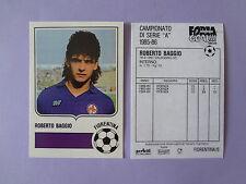 "CALCIO CARD FORZA GOAL FIORENTINA BAGGIO ROOKIE 1985-86 ""COPIA"" REPRINT -FIO"