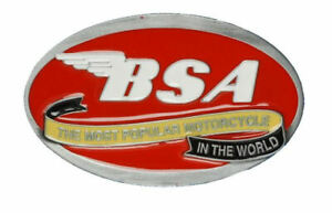 Kleidung & Accessoires Red Bsa Classic Motorcycle 'oval Scroll' Belt Buckle