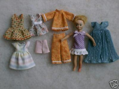 """Two NG Creations Sewing Patterns fit Vintage Mattel 6/"""" Tutti /& Todd Dolls"""