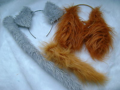 lady and the tramp ears tail sets fake fur fancy dress sets 4 items included