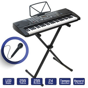 Digital-Music-Piano-Keyboard-Portable-Electronic-Instrument-w-Stand-61-Key