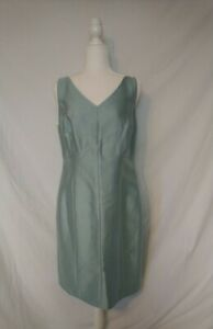 Talbots-Shantung-Silk-Sheath-Dress-Teal-Blue-New-With-Tags-199-Retail-Size-16