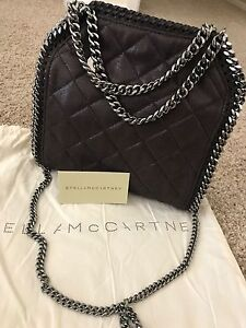 Image is loading Stella-Mccartney-Mini-Quilted-Falabella-Tote-Bag-Authentic- d1ac31ec6281b
