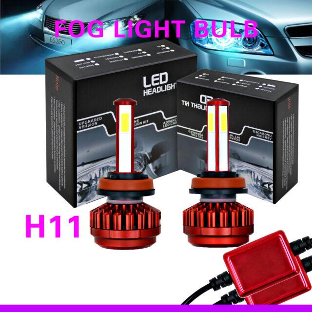 2 PCS Fog Driving Light Bulbs Lamps Front Kit 6000K For