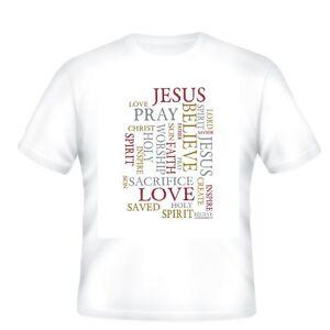 f77b986b UNIQUE T-shirt Christian Jesus Love Pray Worship Sacrifice Lord Holy ...